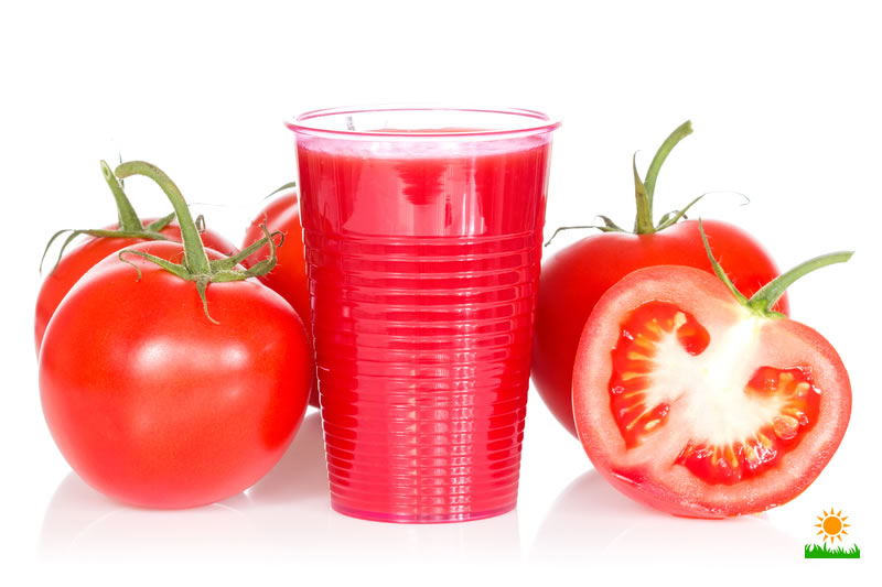 ripe tomatoes and tomato juice
